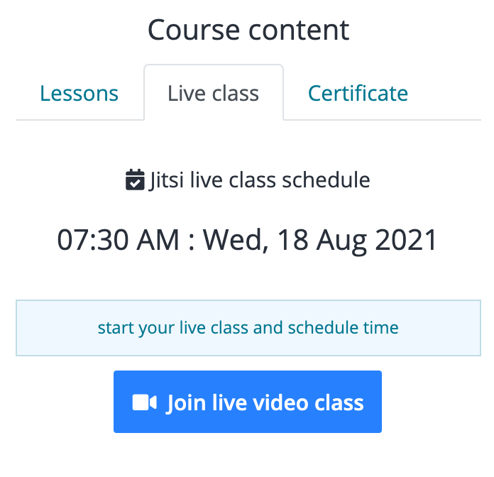 Academy LMS Live Streaming Class Addon - 1